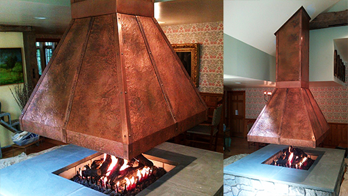 Hammered Copper Hood by Universal Metal Fabricators, Inc.